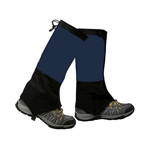Yingbao Más Terciopelo Cálido Otoño E Invierno Botas De Nieve Al Aire Libre Impermeable Leggings Ajustables, Esquí Desierto Selva Trekking Montaña Zapatos De Nieve (Color : Dark Blue, Size : M)