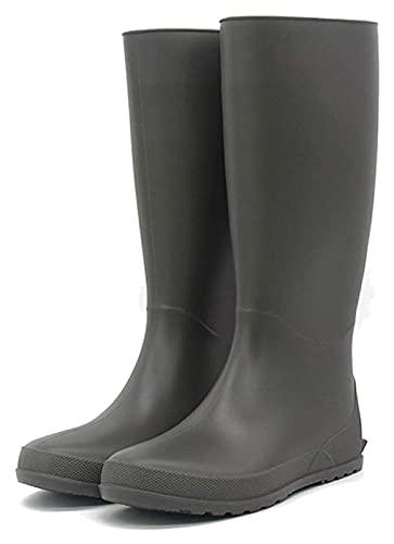 NIANXINN Botas de Lluvia de Color sólido clásico de Las Mujeres Usan Botas de Lluvia Impermeable Impermeable Impermeable Botas de Lluvia (Color : Gray, Size : 39 EU)