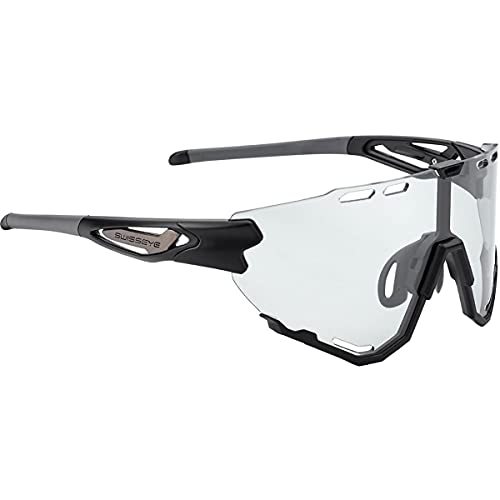 Swiss Eye Occhiali Sportivi Mantra Photochromic, Black Matt-Anthracite