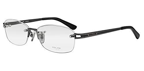 鯖江ワークス(SABAE WORKS) 遠近両用メガネ 老眼鏡 ポリス 縁なし VPL943J (遠近両用 度数+2.50, 0568 グレー)