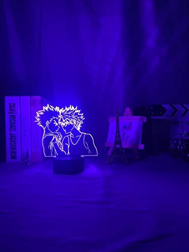 Nachtlicht für Kinder Hunter x Hunter LED Nachtlicht Anime Lampe für Schlafzimmer Dekor leichte Kinder Kind Geburtstagsgeschenk Kilua Licht 16 Farben können ferngesteuert werden