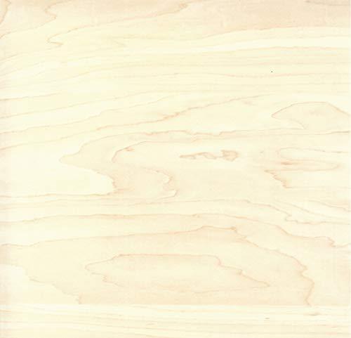 Klebefolie Holzoptik Ahorn, Dekofolie, Möbelfolie, Tapeten, selbstklebende Folie, PVC, ohne Phthalate, Natur-Holzoptik, 45cm x 3m, 95µm (Stärke: 0,095 mm), Venilia 53146