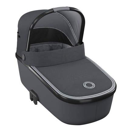 Bébé Confort Oria Cuna portátil compatible con cochecitos Bébé Confort, ligera y fácil de levantar, 0-12 meses, plegable, Essential Graphite