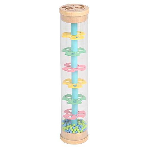 SM SunniMix Juguete Montessori con Sonido de Gota de Lluvia, Reloj de Arena de Iris de plástico, máquina de Lluvia, Juguete Educativo para niños