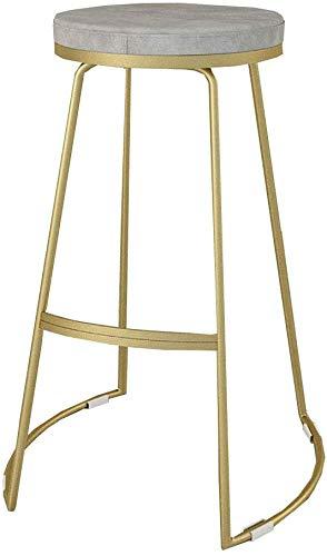 QTQZDD hoge stoel ontbijt keukenstoel barkruk linnen stoel barkruk houten poten barkruk donkergrijs hoge kruk 1 1