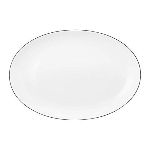 Seltmann Weiden 001.741631 Lido Black Line Servierplatte Oval 35x24 cm