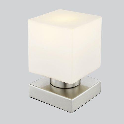 Nino Tablo 53150107 Touch Led Tischlampe, Tischleuchte, Nachttischlampe, Nachttischleuchte, Schreibtischleuchte, inkl. 1 x E14 Led 3 Watt