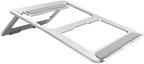 LSZ Soporte para Laptop Soporte portátil portátil con Base Antideslizante, Soporte de Soporte de Tableta Plegable de aleación de Aluminio, Soporte de Base portátil Soporte para Laptop
