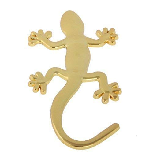 Auto Aufkleber 3D Chrom Gecko Metall Eidechse Emblem gold, neu