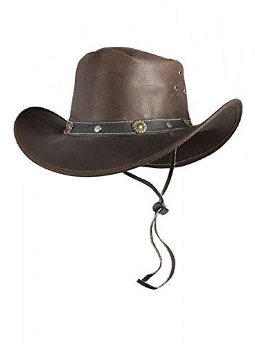 Pfiff 101003 Westernhut Texas, Rauleder, Cowboyhut, Hut Western Cowboy, Braun S