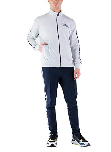 Everlast Chándal de hombre deportivo completo primavera chaqueta pantalón deportivo gris ártico azul Gris ártico / Azul L