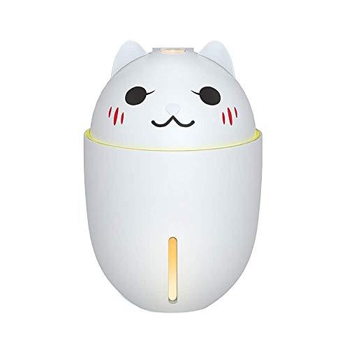 HS-01 Two-in-one Fan tafellamp, kleine ventilator met bevochtiger, nachtlampje, kan slapen verstuiven met water bedlampje, houdt de hand draagbare kinderkarikatuur-bureaulamp HS-01 wit