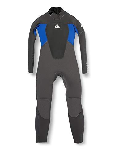 Quiksilver Kleinkind Jungen Prologue 4/3mm Back Zip Neoprenanzug Jet Black Nite Blue - Easy Stretch Lightweight
