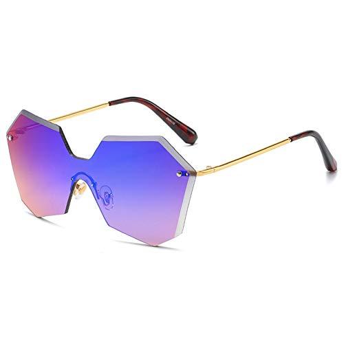 LVYY Damenmode Sonnenbrille, Anti-UV, Persönlichkeit, Geeignet for Kauf Party Freizeit Straße so cool Schießen 1 Paar (Color : C1)