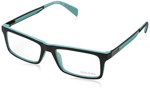 Diesel DL5050 52005 Diesel Brille DL5050 005 52 Rechteckig Brillengestelle 52, Schwarz