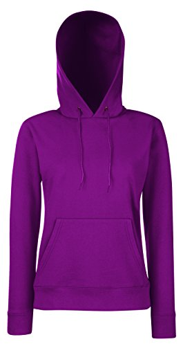 Lady-Fit Hooded Sweat - Farbe: Burgundy - Größe: XS