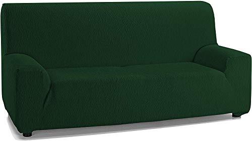 Jara Casa Textil - Copridivano elasticizzato da 2, 3 e 4 posti, colore: verde bottiglia