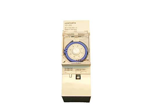 Analoge Zeitschaltuhr 12V 24V für Hutschienenmontage/Zählerschrank