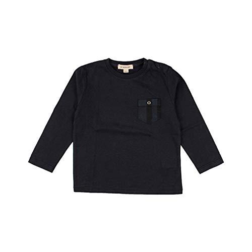 BURBERRY Langarmshirt mit aufgesetzter Brusttasche - Navy, Größe:6 Monate / 68