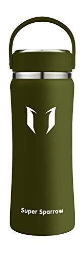 Super Sparrow Botella de Agua Acero Inoxidable - 500ml, Boca