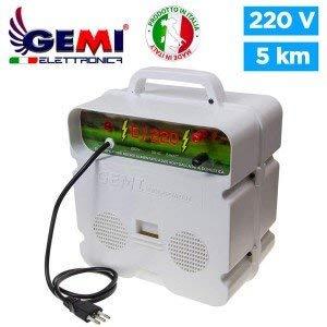 Gemi Elettronica Electrificador para Cercas eléctrica Para Pastor eléctrico 5 Km 220 V Valla eléctrica Valla electrificada E/220 para animales jabalí vacas caballos perros cerdos gallinas zorros