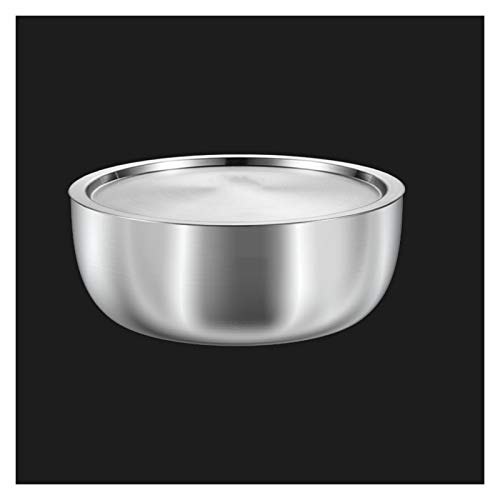 ZHENZEN Stainless metal mixing bowl salad bowl Thicken High capability With sealing cowl Multifunctional mixing bowl Easy to wash (Size : 22cm)