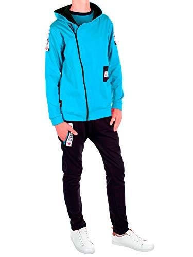 BEZLIT Kinder Jungen Bekleidungs Set 3 Teilig Hoodie Langarmshirt Sport Hose 30147 Türkis 146