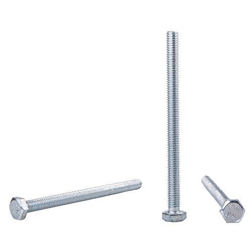 50 Stück DIN 933 Stahl Sechskantschrauben M6 x 80 mm Sechskantschrauben Vollgewinde Innensechskant (50, M6 x 80 mm)