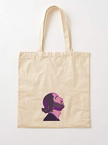 Archetypethemes Purple Lomepal Jeanine Amina Tote Cotton Very Bag | Bolsas de supermercado de lona Bolsas de mano con asas Bolsas de algodón duraderas