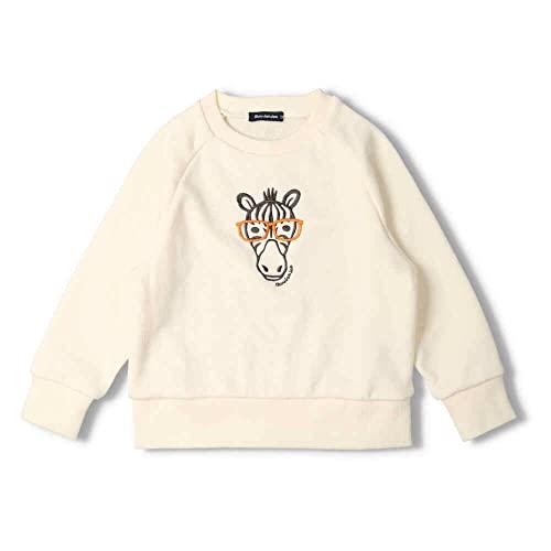 【子供服】 moujonjon (ムージョンジョン) 日本製動物刺繍裏毛トレーナー 80cm〜130cm M54666