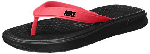 Nike Men's Solay Thong Sandal, red Orbit/Black - Black, 11 Regular US