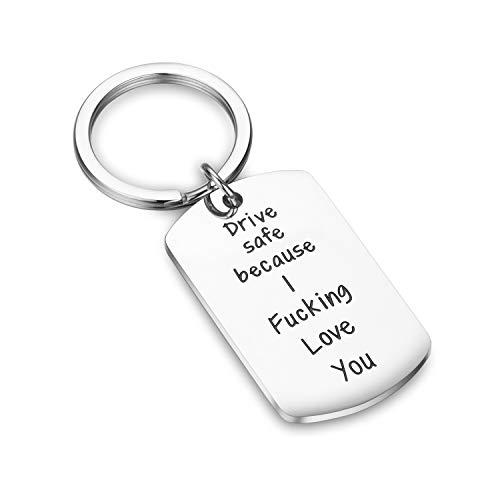 Thoughtful Keychain with Safety Message