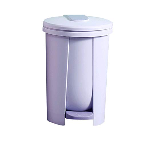 Zaza Bins Trash Can With Lid, 14L/3.6GAL,Trash Bin,Silent And Gentle Open And Close And Removable Inner Wastebasket, For Bathroom/Bedroom Decorative Urns (Color : Blue+garbage bag)