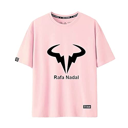 YDQY Camiseta Unisex Camiseta de Tenis Rafael Nadal Camisas Deportivas de Manga Corta para Hombre Algodón Transpirable Casual Pullover Top