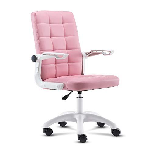 Chaise de bureau Chaise D'ordinateur Rose Chaise Fille Chaise Paresseuse Chaise De Bureau À Domicile Chaise De Jeu Esports Chaise De Dortoir Étudiant Peut Être Levée Et Abaissée À 90 Degrés Main Coura