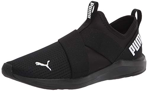 PUMA Women's Prowl Slip On Cross Trainer Sneaker Black White Black, 8.5