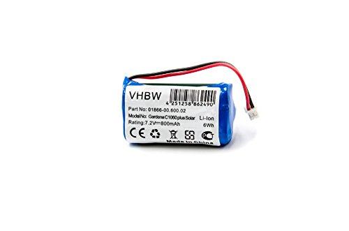 vhbw Li-Ion Akku 800mAh (7.4V) für Bewässerungscomputer wie 01866-00.600.02