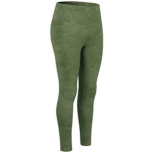 Leggings Push Up Mujer,Pantalones de yoga impresos europeos y americanos para mujeres Sin línea vergonzosa Pantalones de chándal de estiramiento alto para levantar la cadera Pantalones de yoga al air
