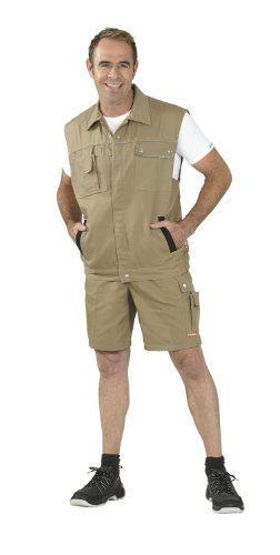 Planam Größe M Herren Canvas 320 Shorts Khaki schwarz Modell 2175