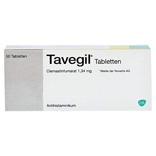 Tavegil Tabletten Antihistaminikum Reimport EMRAmed, 50 St. Tabletten