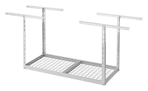 Overhead GearLoft Garage Storage Rack 2' X 4' in Hammered White
