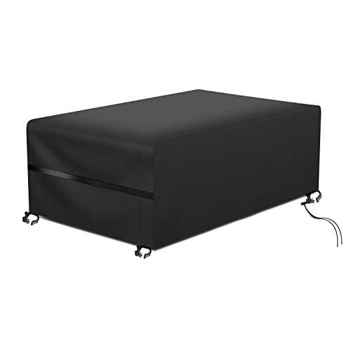RATEL Protectora para Muebles de jardín, Funda para Muebles de Jardín Exterior Impermeable a Prueba de Viento Paño Oxford 420D Cubierta de Mesa Patio para Muebles Grandes(180X120X74cm)