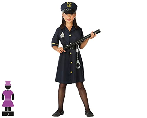atosa 95788 Costume da Poliziotto. Bambina 10-12