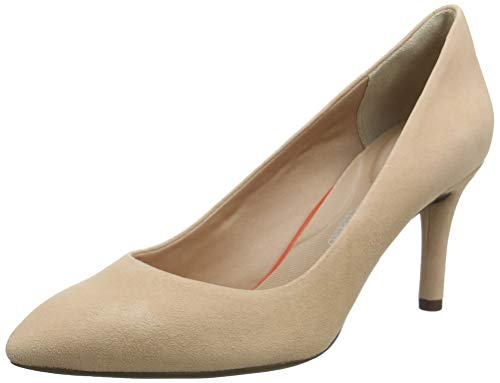 Rockport Damen Total Motion 75mm Pointy Toe Plain Pump Pumps, Pink (Dusty Peach 007), 37.5 EU