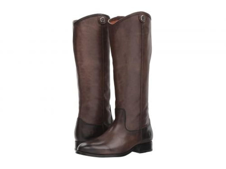 フリーストロイの木馬執着Frye(フライ) レディース 女性用 シューズ 靴 ブーツ ロングブーツ Melissa Button 2 - Smoke [並行輸入品]