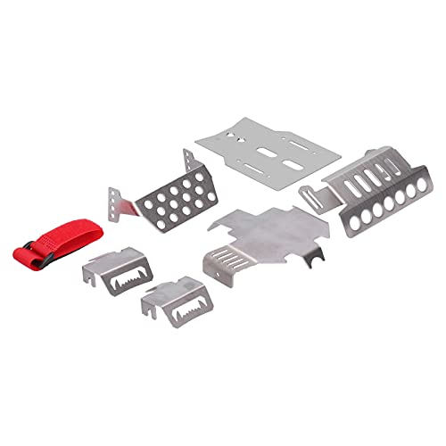 Juego de armaduras de chasis RC, gran pieza de actualización Armaduras de chasis de acero inoxidable para Traxxas TRX ‑ 4 82056‑4 Coche de control remoto