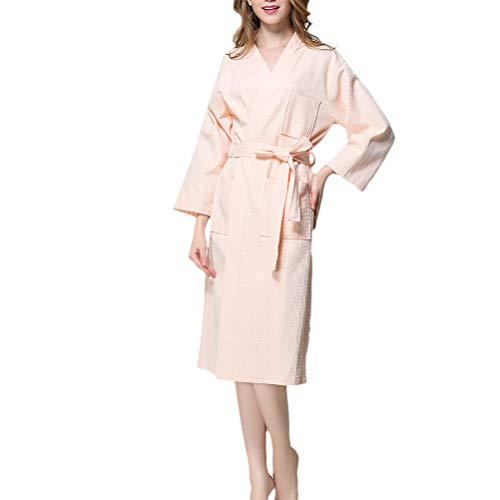 Adelina dames luxe wafle unisex Gowns dressing Housecoat Robes kwaliteit katoen modieus compleetel nachtkleding loungewear badjas