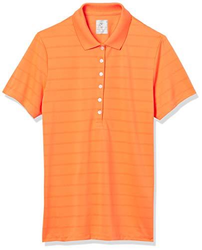 Callaway Women's Golf Short Sleeve Pique Open Mesh Polo Shirt, Carrot, Large