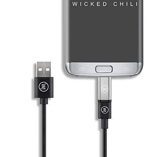 Wicked Chili MicroUSB auf USB C OTG (On-The-Go) Adapter kompatibel mit Huawei EnVizion 360 und USB-C Kameras für Smartphone Micro-USB OTG auf USB C Adapter für MicroUSB Handys (2er Set)