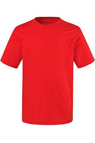 JP 1880 Herren große Größen bis 8XL, T-Shirt, JP1880-Motiv auf der Brust, Basic-Shirt, Rundhalsausschnitt, Reine Baumwolle, orange XXL 702558 65-XXL